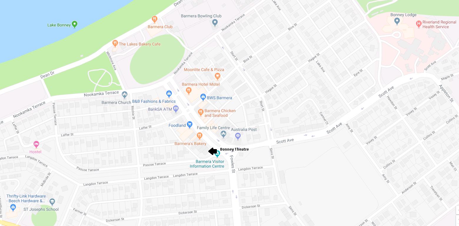Bonney Theatre map